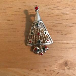 Christmas Tree Pendant Austrian Crystals Vintage